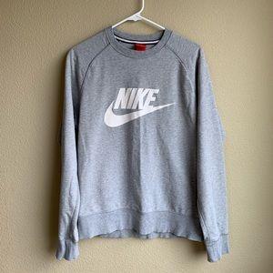 Nike gray logo pullover